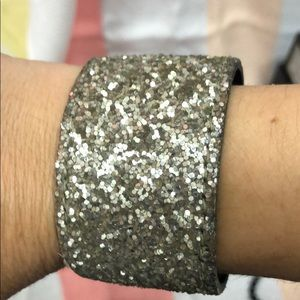 Jewelry - Silver sparkle adjustable cuff bracelet